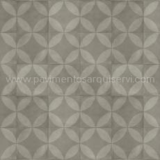 Vinílicos Heterogéneo Tile Flower Dark Grey