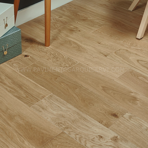 Madera Natural Parquet Roble Crudo