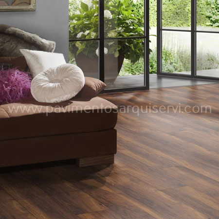Tarimas Laminada Roble café marron XL