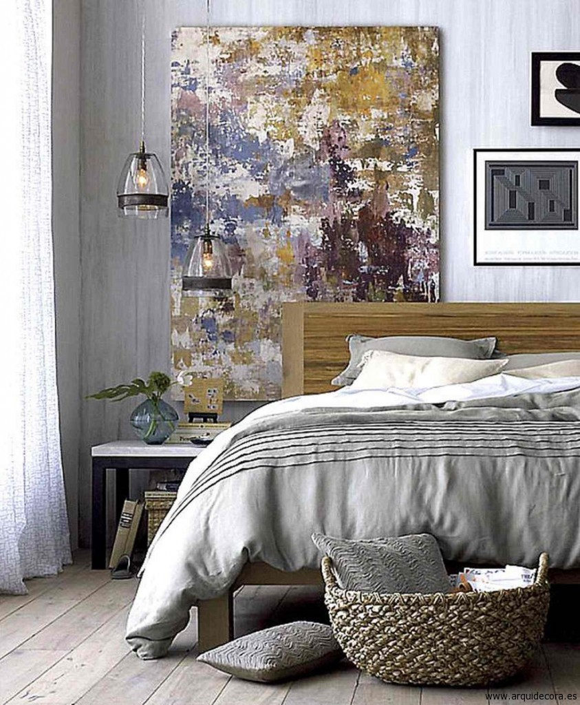 minmalist-and-rustic-bedroom-design-with-wooden-floor-and-abstract-paint-915x1111-843x1024