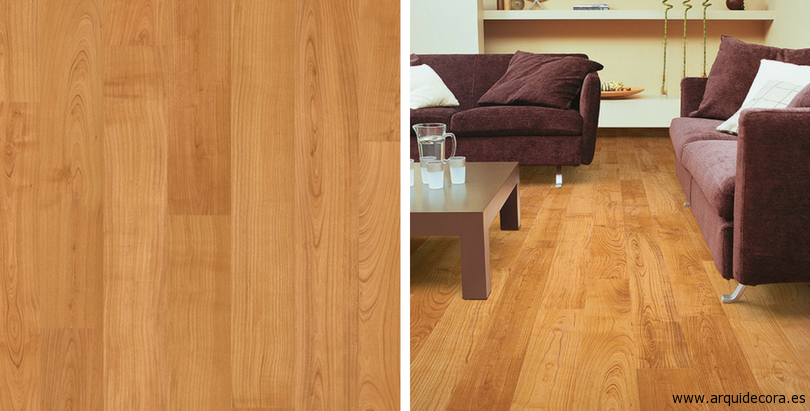 suelo laminado Eligna QuickStep modelo Cerezo Barnizado natural en planchas U864
