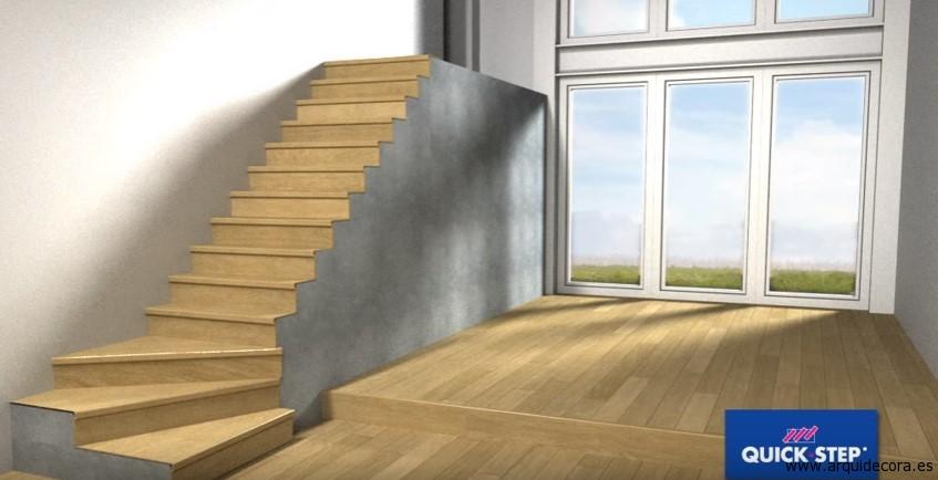 instalar tarima en las escaleras