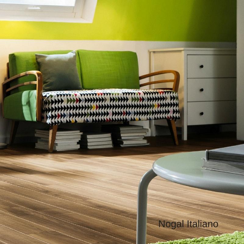 salon y sillon con suelo laminado nogal italiano loft tritty 100 haro pavimentos arquiservi