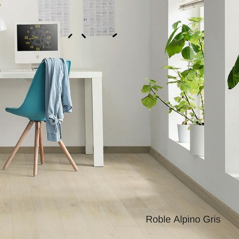 escritorio sala suelo laminado roble antiguo gris loft tritty 100 haro pavimentos arquiservi