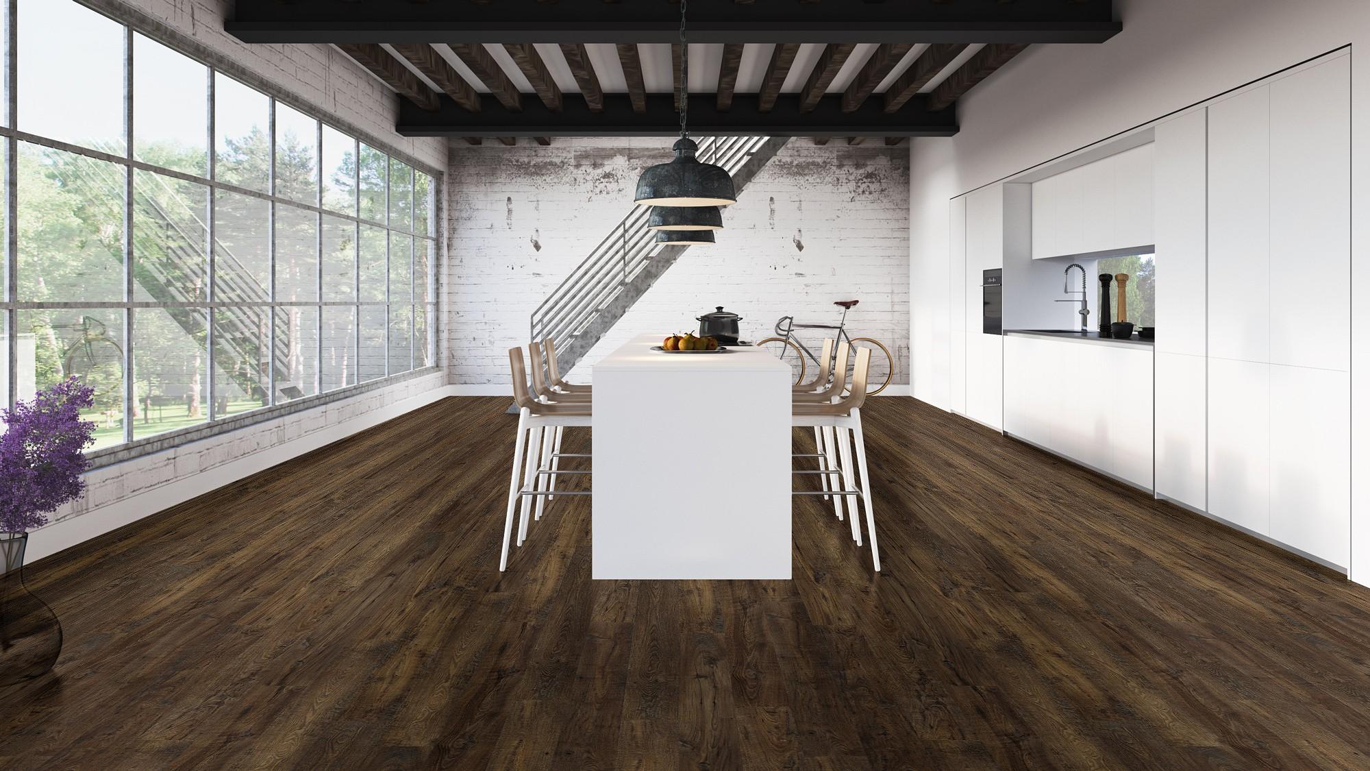 castaño oscuro en planchas mejorado de la coleccion eligna wide de quickstep pavimentos arquiservi
