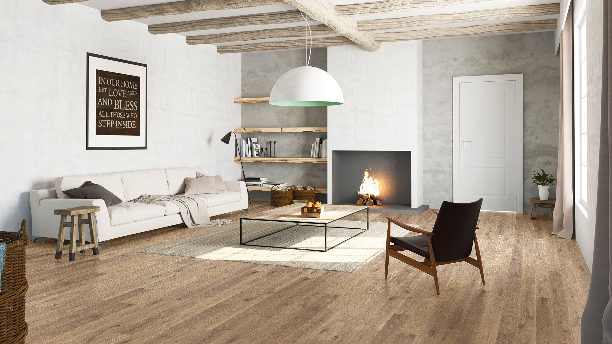Suelo laminado Elite roble white medio elite quickstep pavimentos arquiservi