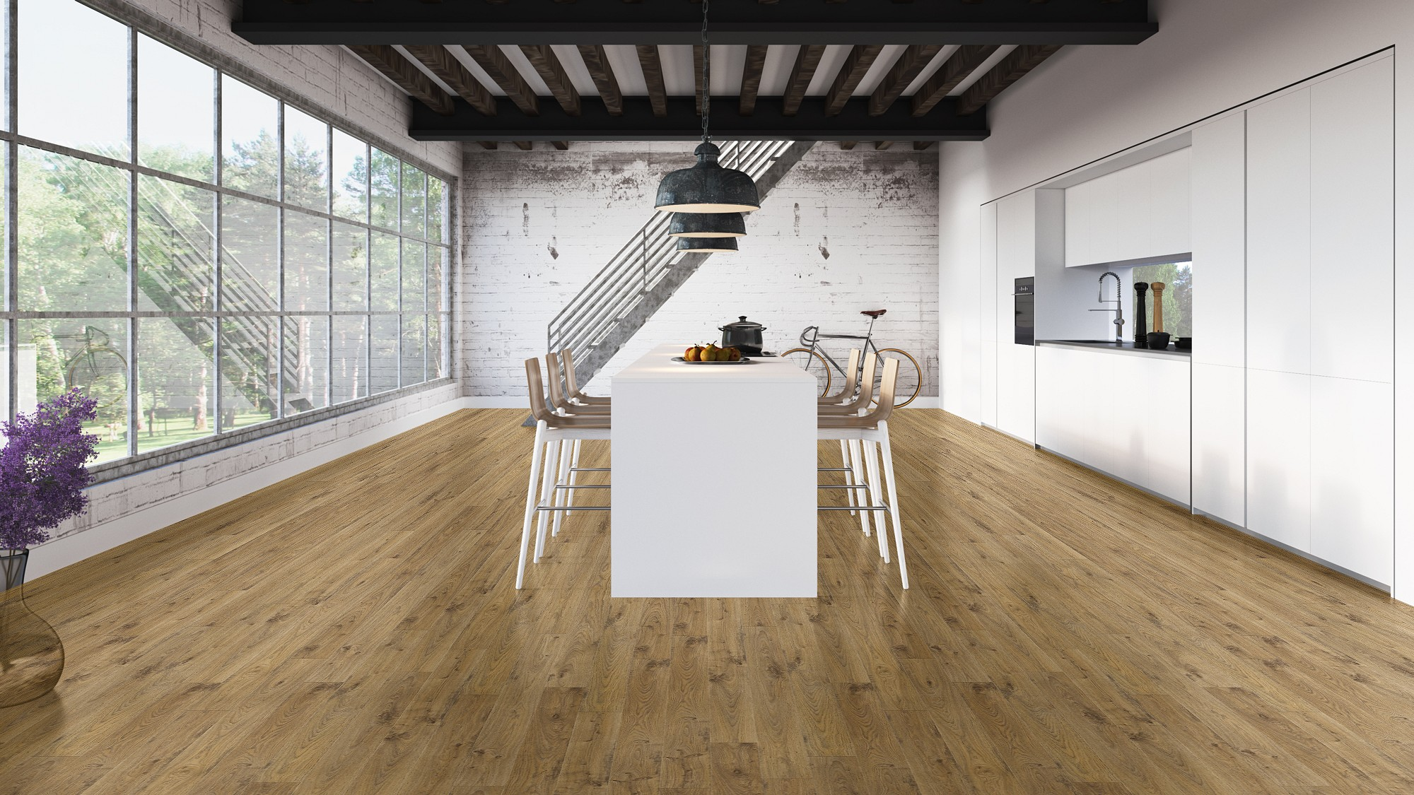 Suelo laminado Elite roble white natural viejo elite quickstep pavimentos arquiservi