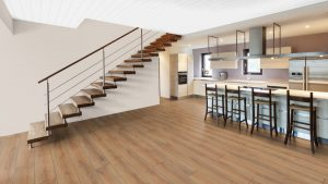 SUELO LAMINADO COURAGE LINE am D04 ROBLE MARRON COPPER TERHURNE PAVIMENTOS ARQUISERVI
