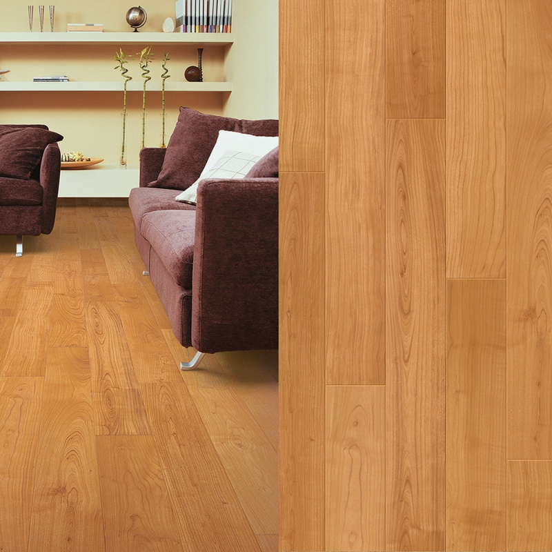 suelo laminado cerezo barnizado natural perspective quick-step pavimentos arquiservi