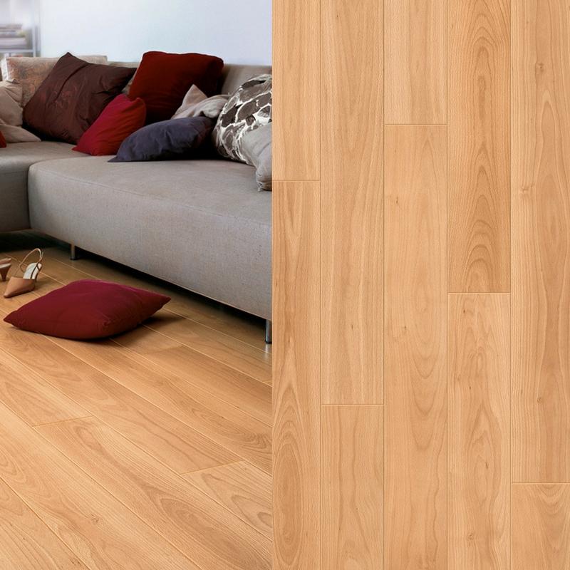 suelo laminado haya barnizada perspective quick-step pavimentos arquiservi