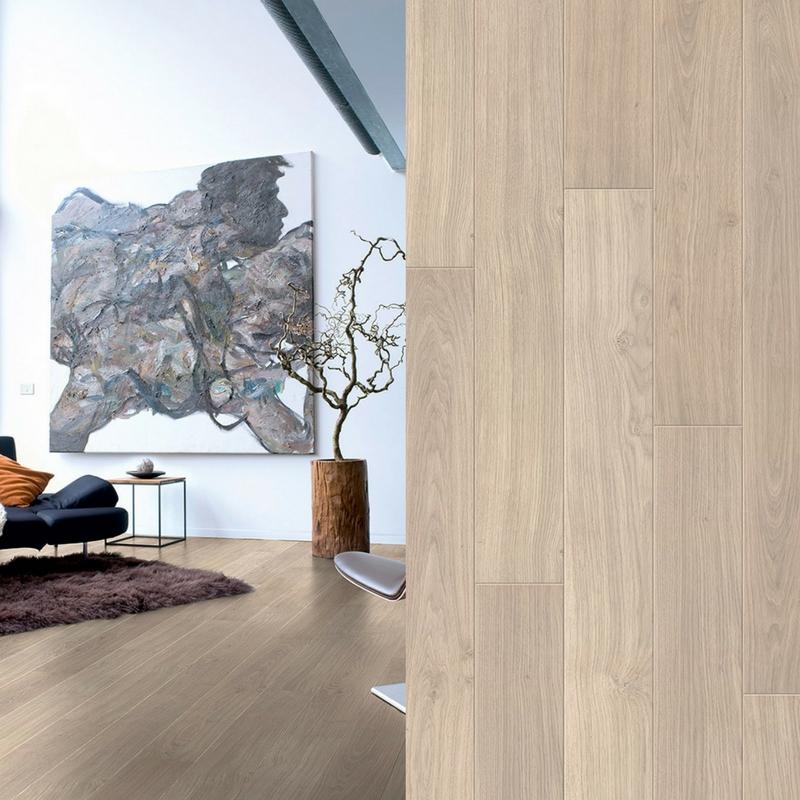 suelo laminado roble barnizado gris claro perspective quick-step pavimentos arquiservi
