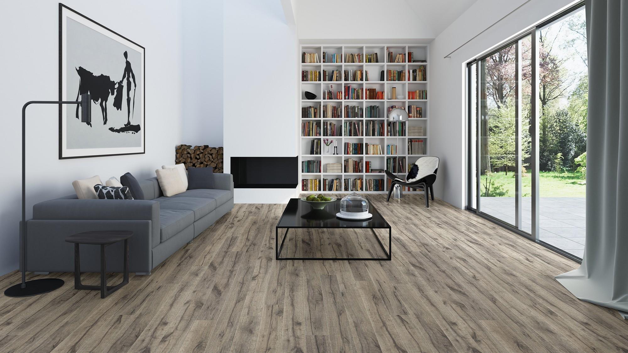 suelo laminado prespective wide de quickstep roble marrón pavimentos arquiservi